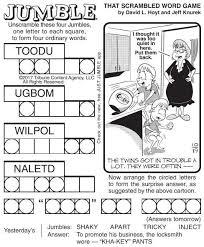 jumble puzzles u0026 comics poststar com