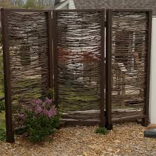 Outdoor Privacy Screens For Backyards Outdoor Privacy Screen Installed Made With Branches By My Husband