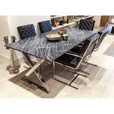 yemek masasi altıncı cadde antique black mermer yemek masası 200x100 cm