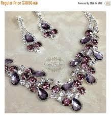 earring necklace rhinestone images Wedding jewelry set bridesmaid jewelry set bridal necklace jpg