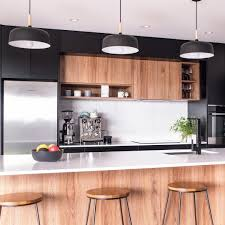 wooden kitchen cabinets nz homes to nz on instagram black white and an accent