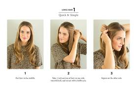 quick ways to style long hair hair style and color for woman