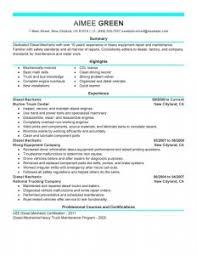 Diesel Technician Resume Diesel Mechanic Resume Examples Best Entry Level Mechanic