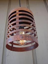 rustic industrial pendant lighting rusty steel rustic industrial pendant light by benclifdesigns