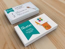 tarjeta de visita diseo tarjeta de visita para mis recetas mayte cg diseño gráfico y