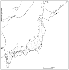 East Asia Map Blank by Blank Outline Map Of Japanese Regions And Prefectures