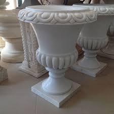 vaso resina bianco vaso a calice in marmo bianco cm 60 vmc60 567 00 fratelli
