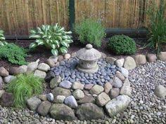 combining container plantings with a rock garden means this is a