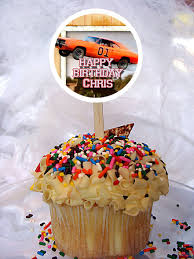 personalized cupcake toppers the dukes of hazzard personalized cupcake toppers