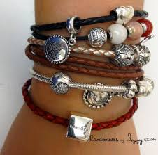 braided leather bracelet with charms images Pandora double braided leather bracelet alert bracelet jpg