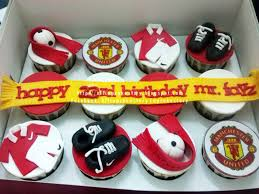 allcupcakestory manchester united birthday cupcakes