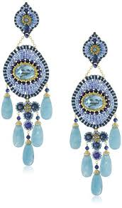 earrings and things miguel ases lapis and blue quartz 5 drop earrings miguel ases