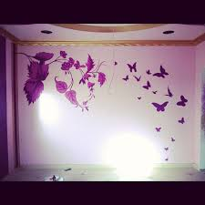 wall design ideas stencil and hand painted wall