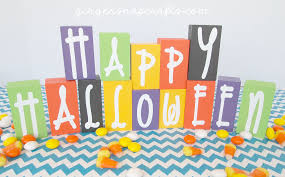 Wood Halloween Crafts Ginger Snap Crafts Easy U0026 Fun Halloween Blocks Tutorial
