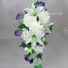 gardenia bouquet wedding silk flower gardenia calla hanging bouquet bridal