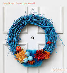 Handmade Easter Door Decorations by Egg And Feather Goes Together Jewel Toned Easter Door Wreath