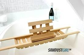 bathtub caddy with book holder easy diy bath caddy cedar woodworking project bath caddy book