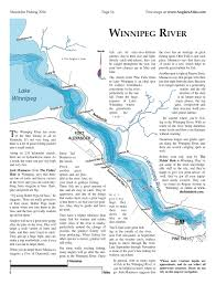 Winnipeg Map Lake Winnipeg Angler U0027s Atlas