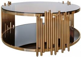 Gold Round Coffee Table Buy Logan Metal And Glass Round Coffee Table Rose Gold Online Cfs Uk
