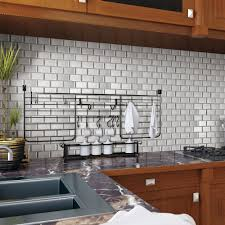 a17027 pack of 6 peel and stick wall tile in brick style for