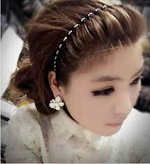 headband waves buy wholesale fashion woman grey rhinestone ultrathin alloy