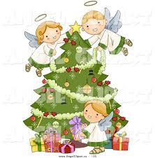 christmas angel christmas angel tree clipart