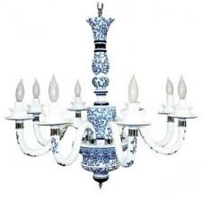 Blue Light Fixture White Porcelain Chandelier Foter