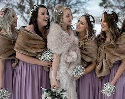 fur shawls for bridesmaids faux fur wrap etsy