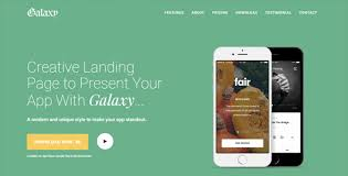 galaxy responsive bootstrap app landing page template by solocoded