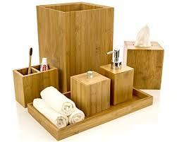 Delightful Vanity Trays For Bathroom Intriom Bamboo Bathroom Vanity Accessories Set Of 6 Shampoo