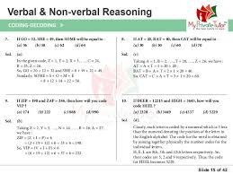 questions on verbal u0026 non verbal reasoning coding decoding