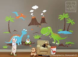 Dinosaurs Wall Decals Dino Land Wall Decal Dinosaurs Wall - Kids dinosaur room
