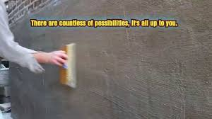 How To Cover Old Concrete by Plastering Mortar Stucco Patching Over Brick With Mortar Youtube