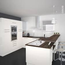 modele de cuisine en u cuisine ivoire modèle keria avec façade ivoire brillante kitchens