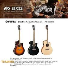 yamaha electric acoustic guitars apx 500 iii series for sale in