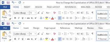 chagne ribbon how to change the capitalization of office 2013 s ribbon bar