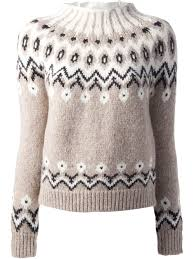 moncler fair isle knit sweater in lyst