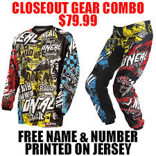 motocross pants and jersey combo oneal mx element wild gear combo pro style mx