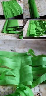 green paper easter grass no mess easter grass