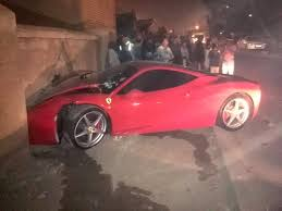 crashed red lamborghini ferrari 458 italia crashed in tembisa south africa