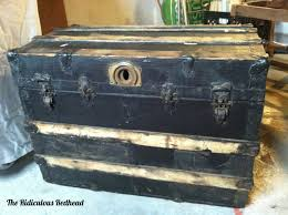 an old wood steamer trunk the ridiculous redhead