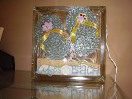 arts and crafts home decor ideas glass block summer craft my craft projects pinterest glass