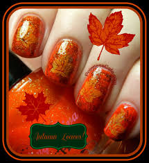 autumn leaves nail art pointless cafe