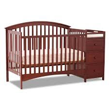 Fixed Side Convertible Crib Storkcraft Bradford 4 In 1 Fixed Side Convertible Crib Changer In