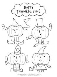 thanksgiving coloring pages for mr printables