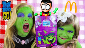 halloween pop tarts 2017 teen titans go complete set of 6 mcdonald u0027s happy meal toys