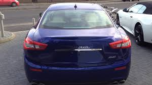blue maserati ghibli maserati ghibli in blue youtube