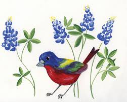 painted bunting april heather art