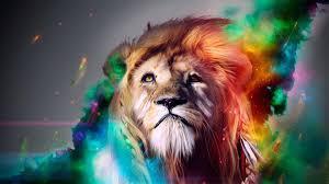 wallpaper photoshop lion 1920 x 1080 animals pets puppies