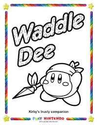 waddle dee coloring pages coloring